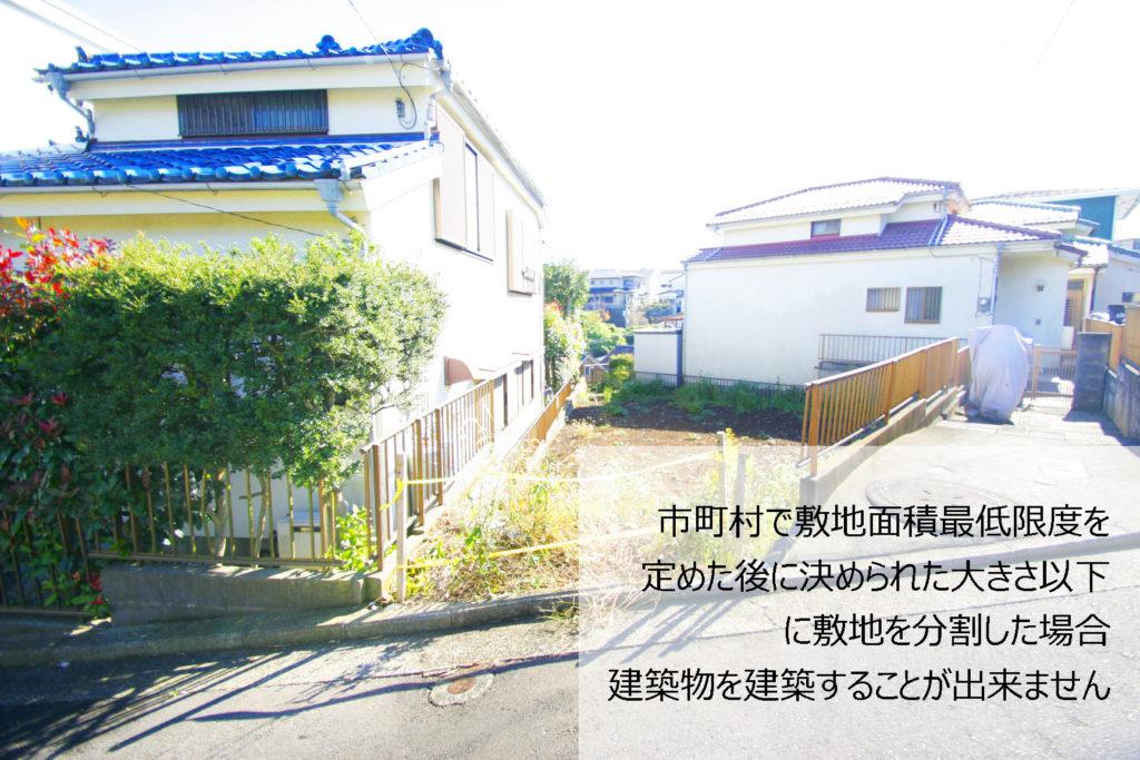 建築物の敷地が定められた面積以下