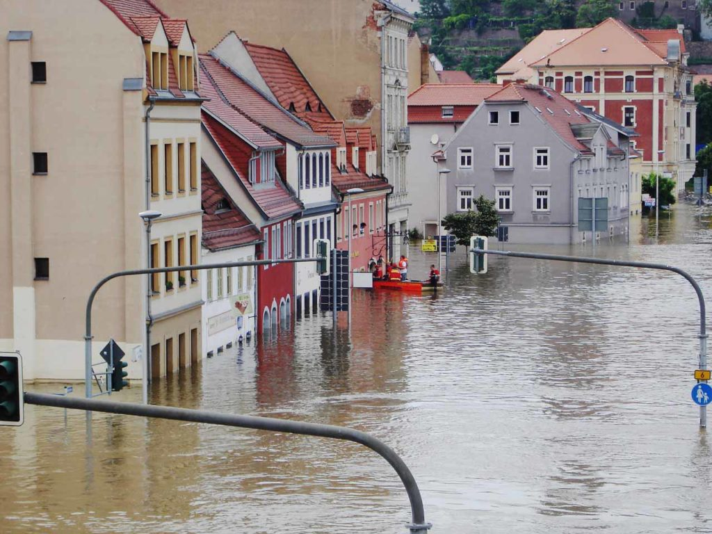 家賃下落について水害など